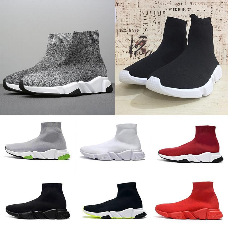 Beat Designer Sneakers tr maille streç hız eğitmen siyah Tan erkekler hız orta üst eğitmen çorap ayakkabı Casual spor ayakkabı modelleri ayakkabı