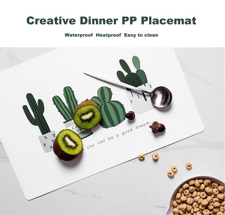 Cactus Cena Tovaglietta antiscivolo Mat PP Table Pads Bowl bere impermeabili Articoli per la casa Weding Mesa gli accessori della decorazione