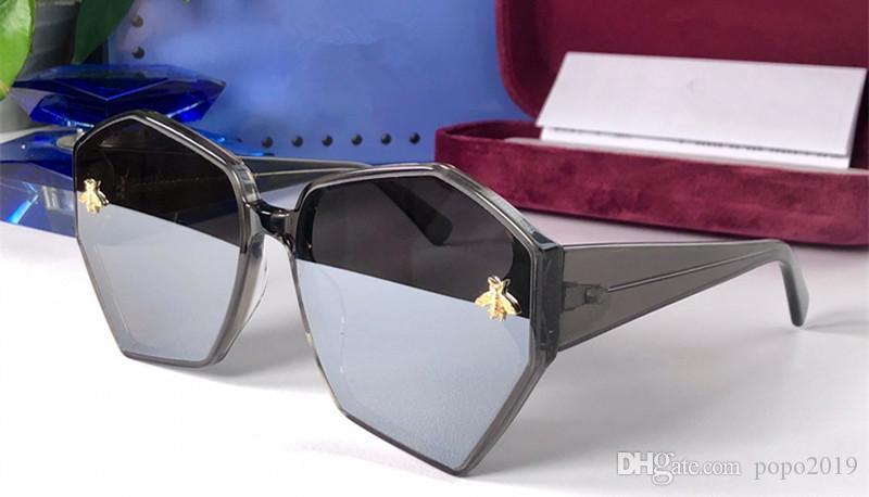 شعبية جديدة بيع 1073 مصمم النظارات الشمسية لوحة النساء مسدس الإطار الكامل أعلى جودة سيدة الموضة على غرار السخي عدسة UV400 مع مربع