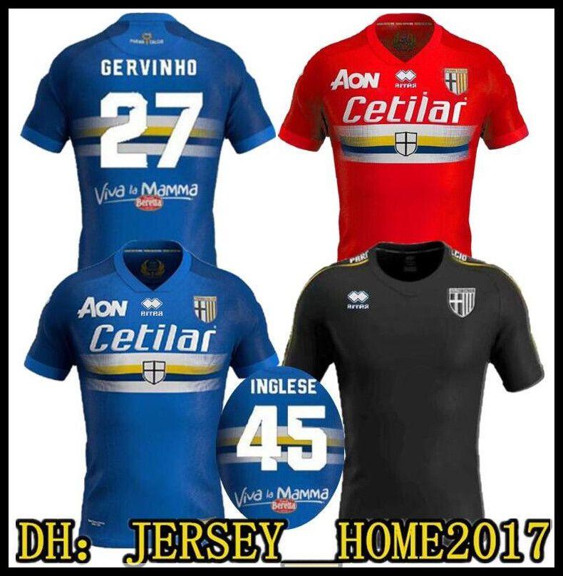 Özel baskı kırmızı 2019 2020 Parma Calcio Futbol Forması 19 20 Parma mavi Crespo Cannavaro Ceravolo Calaio Baraye Özel Eğitim suit