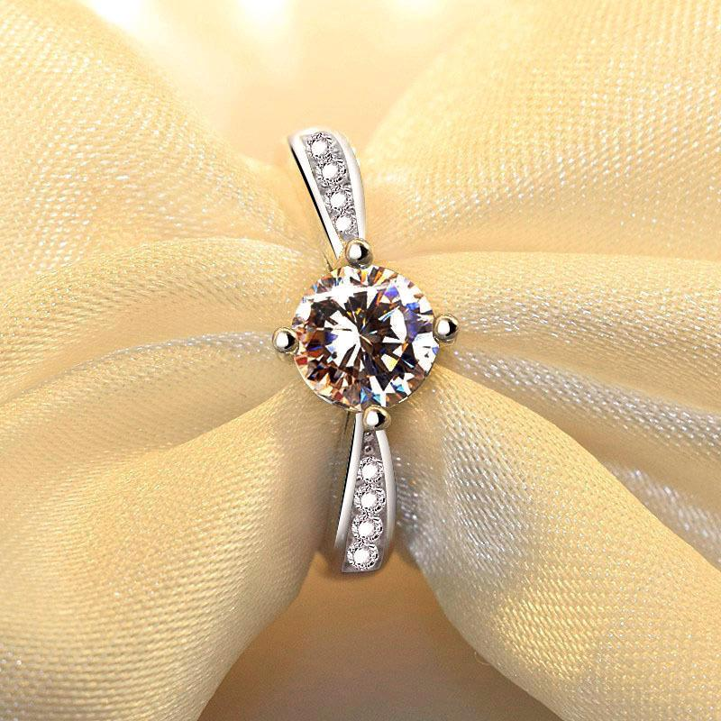 Wholesale-Diamond Men and Women Lovers Ring Opening 925 Sterling Silver Jewelry Elegant Fashion Beauty Wedding Anniversary Christmas Gift