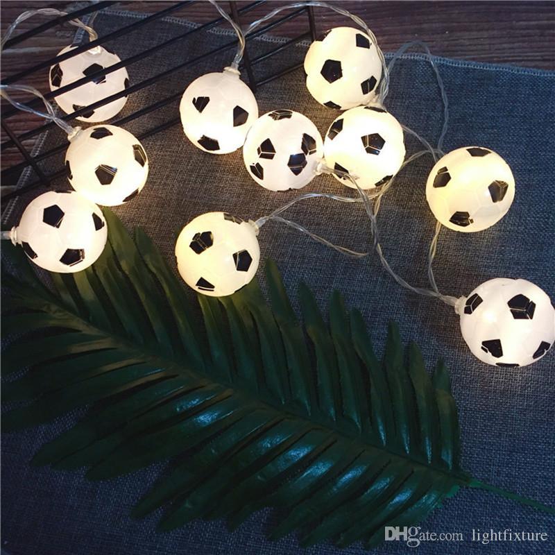 Grosshandel Led Fussball Lichterkette Batteriebetriebenes Led Fussball Lichterkette Fur Weihnachten Urlaub Hochzeit Dekoration Hausgarten Licht Von