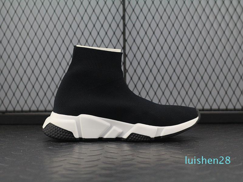 New Geschwindigkeit Socke hohe Qualität Speed Trainer Freizeitschuhe für Männer und Frauen Schuhe Geschwindigkeit Stretch-Strick Mid Turnschuhe l28