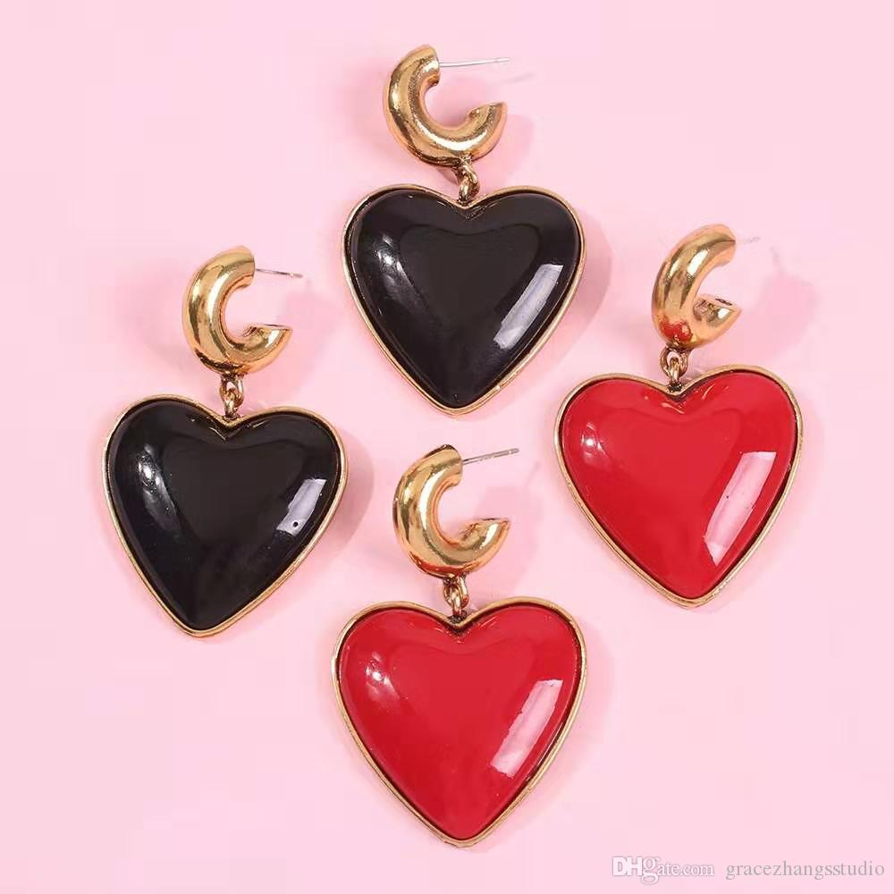 Women/'s Party Life Love Heart Dangle Drop Bridal Wedding and Special Occasion Rainbow Earrings