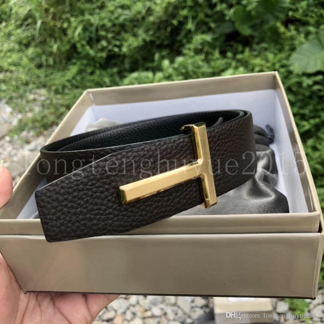 2019 Gürtel Herren Bekleidung Accessoires Geschäft Gürtel für Männer Big Buckle Mode Herren-Ledergürtel Großhandel F-016
