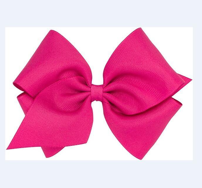 10pcs / lot NEUE 20 Farben Baby King Classic Gros Grain 5INCH Haarschleife mit Haar-Klipp / Erdbeere Pailletten-Center