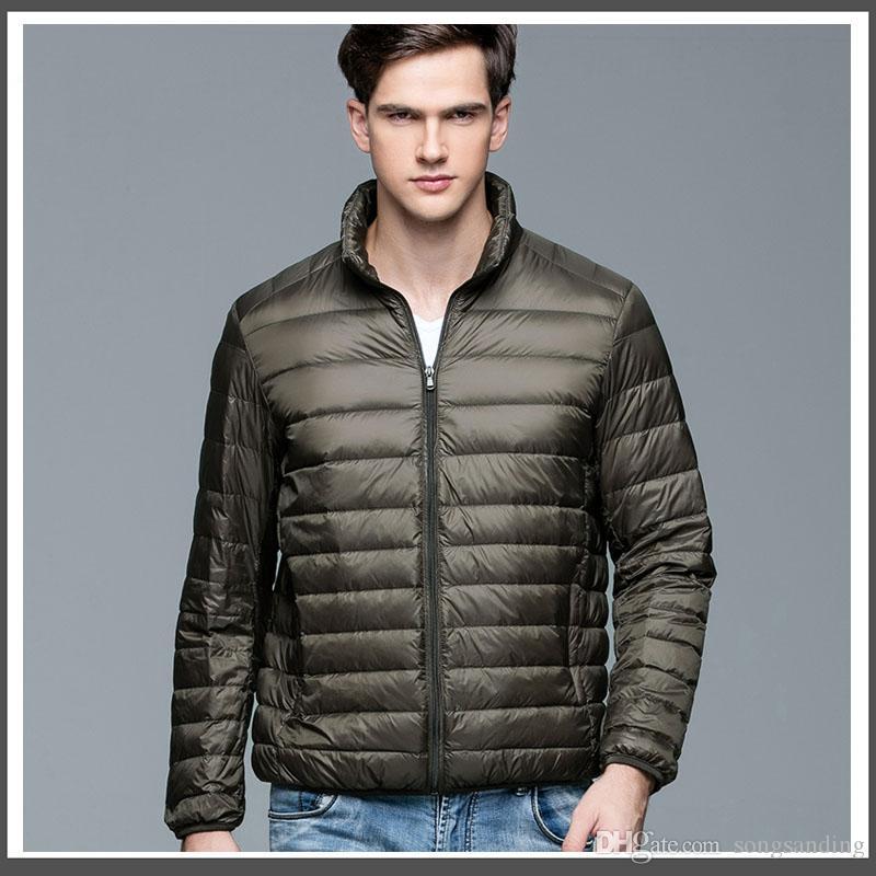 2018 nueva chaqueta casual de pato blanco de marca para hombre otoño invierno abrigo cálido chaqueta de pato ultraligera para hombre Parka a prueba de viento M-XXXL 003