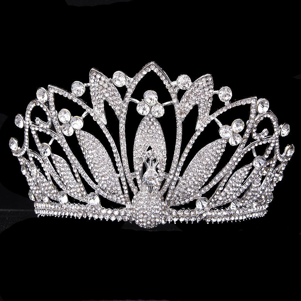 2020 Nuovo glitter barocco diamante grande cristallo corona floreale squisita charming tiaras bellezza pageant sposa accessori per capelli da sposa