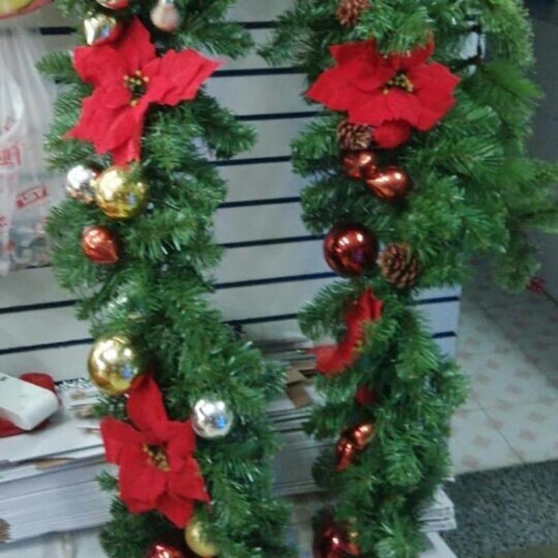 2.7m de Natal artificial Vine Rattan Garland grinalda Hanging Tree Party Decor Lifelike videira artificial é perfeito para férias