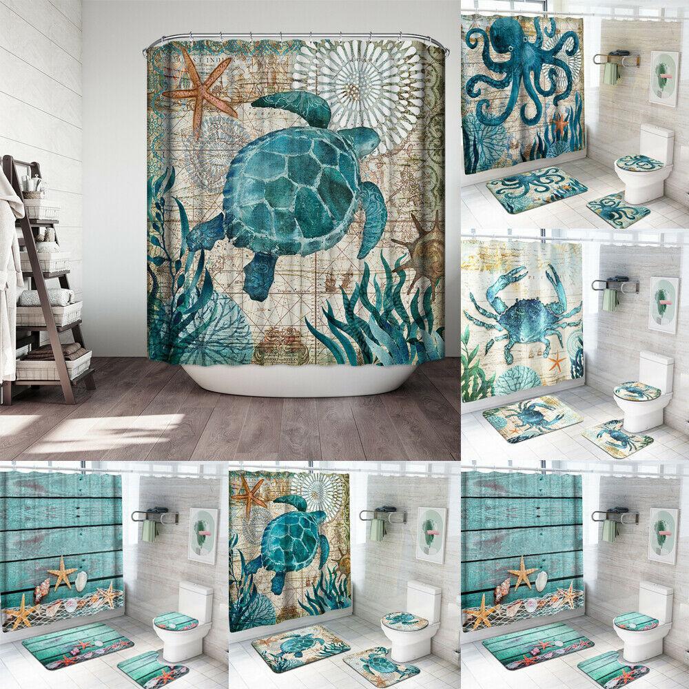ocean themed bathroom mirror