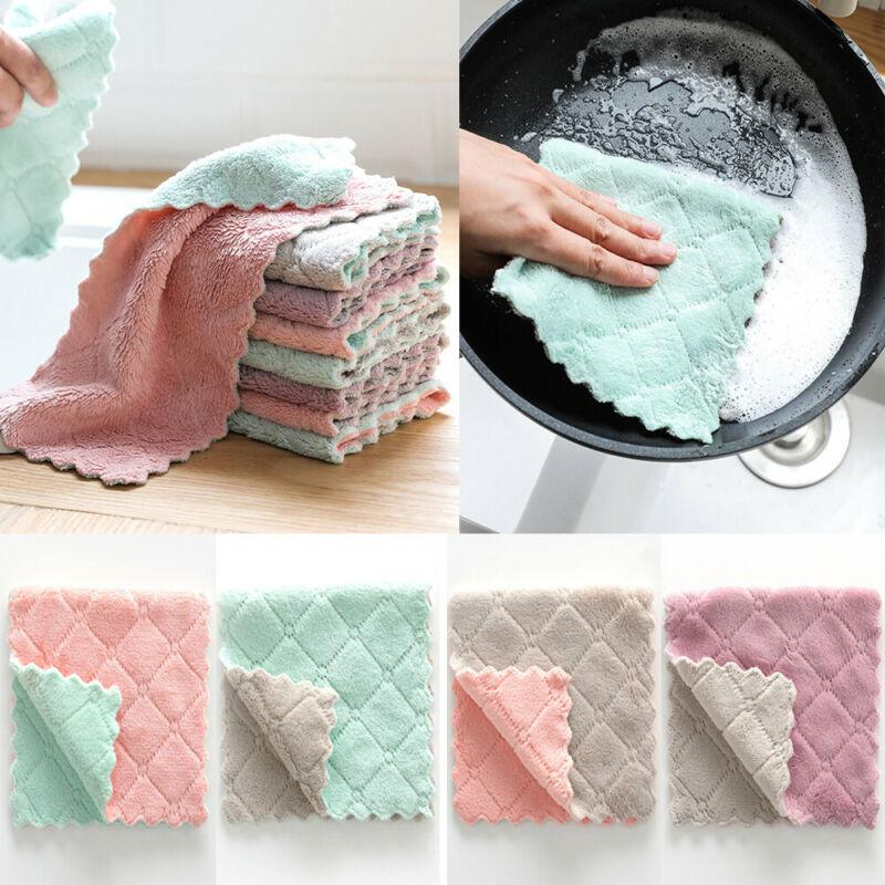2019 Absorbent Cleaning Cloth Rag For Cars Microfiber Kitchen Towel  Dishcloths Washing Cleaning Rags For Dish Washing From Raoying8888, $2.84 |  ...