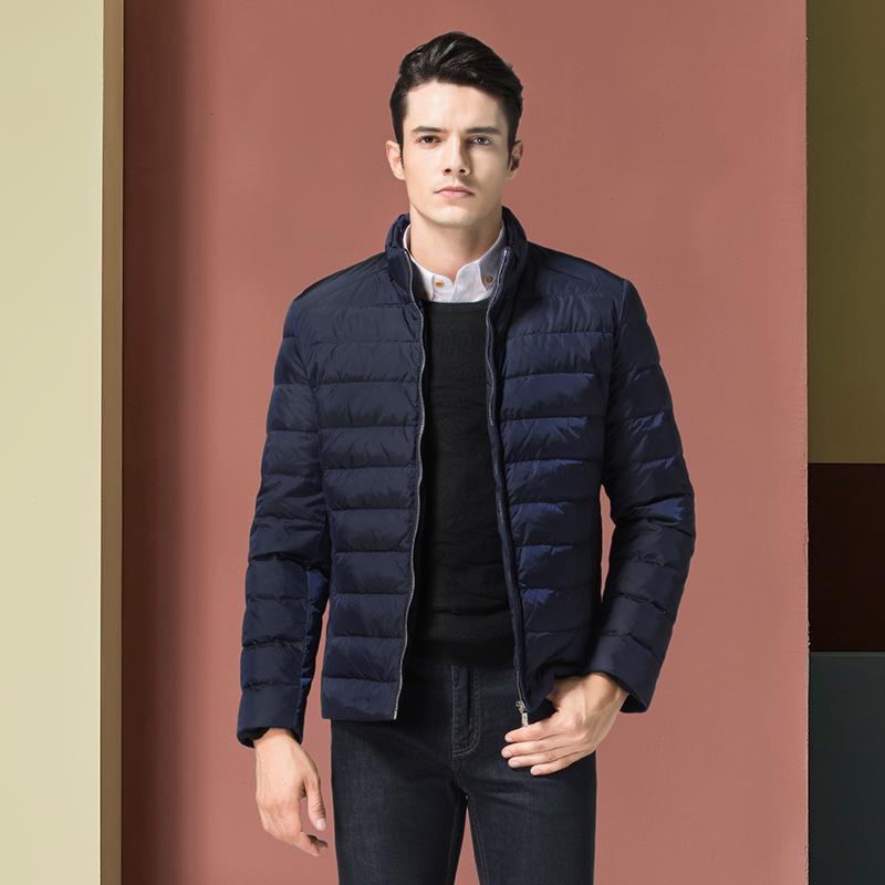 Vente chaude d'hiver Hommes Ultraléger 90% duvet de canard blanc chaud Veste coupe-vent manteau solide imperméable Outwear Taille M-4XL NC16003