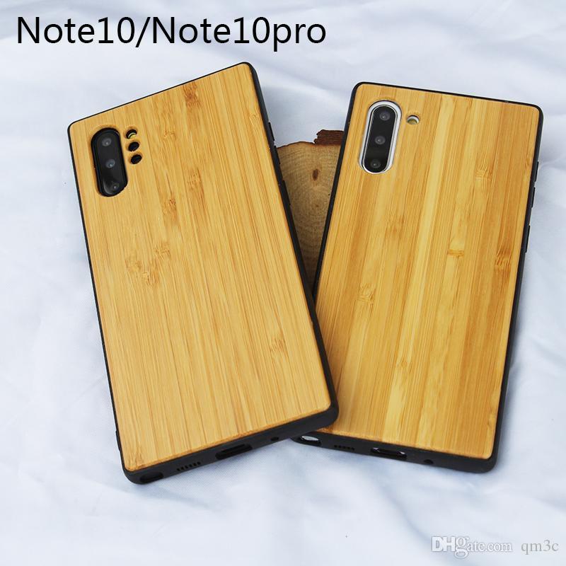 2019 Yeni Tip Ahşap Kılıf Samsung Galaxy Not Için 10 Note10 pro Benzersiz Doğa Ahşap Cep Telefonu Kapak Için S10 5g S10 Lite Not 9