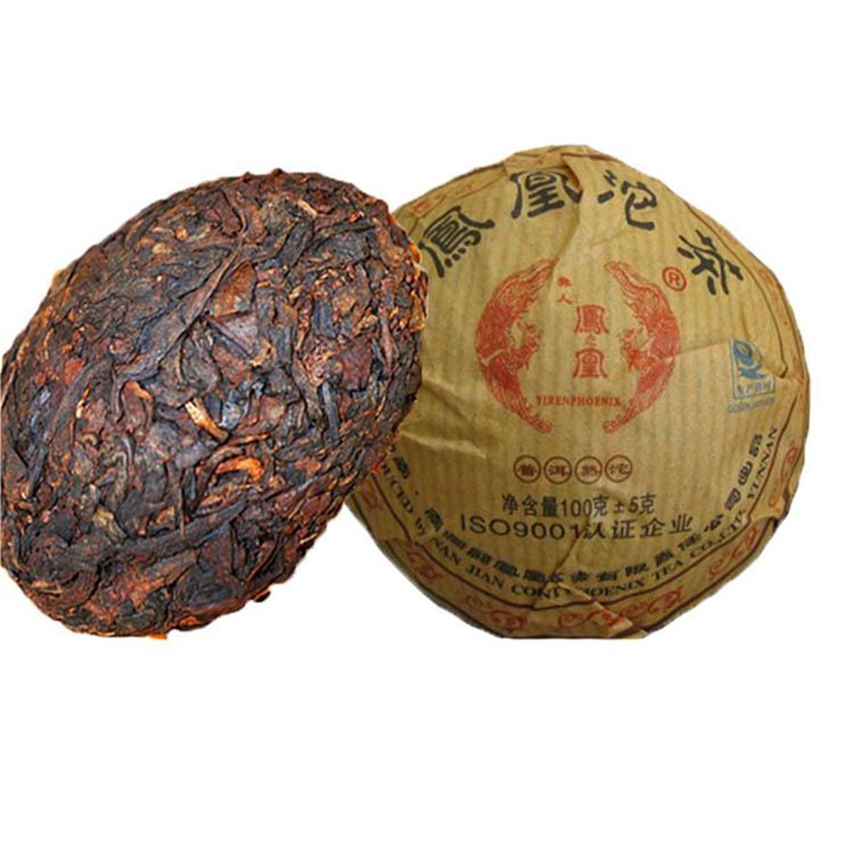 100 g Yunnan classique Arbre Ancien Ripe Puer thé Gâteau Tuo Cha Bio Naturel Thé noir Puer cuit préféré
