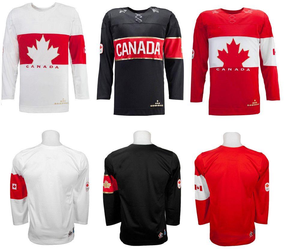 Özel # 87 Sidney Crosby # 16 Toews # 99 Wayne Gretzky Takım Kanada Soçi 2014 Olimpiyat hokey forması Dikişli Herhangi Ad Your Number açıkladı