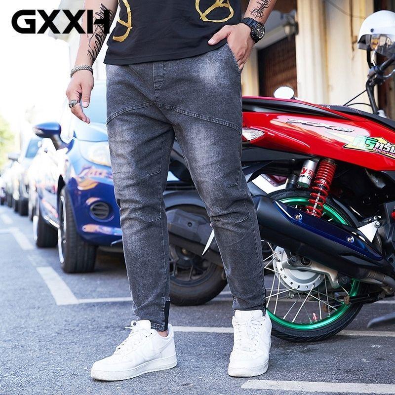 GXXH Large Mens Joggers Oversized Jeans Cotton Loose Baggy Pleated Denim Pants Trousers Designer Men Clothes Plus Size 5XL 6XL T200410