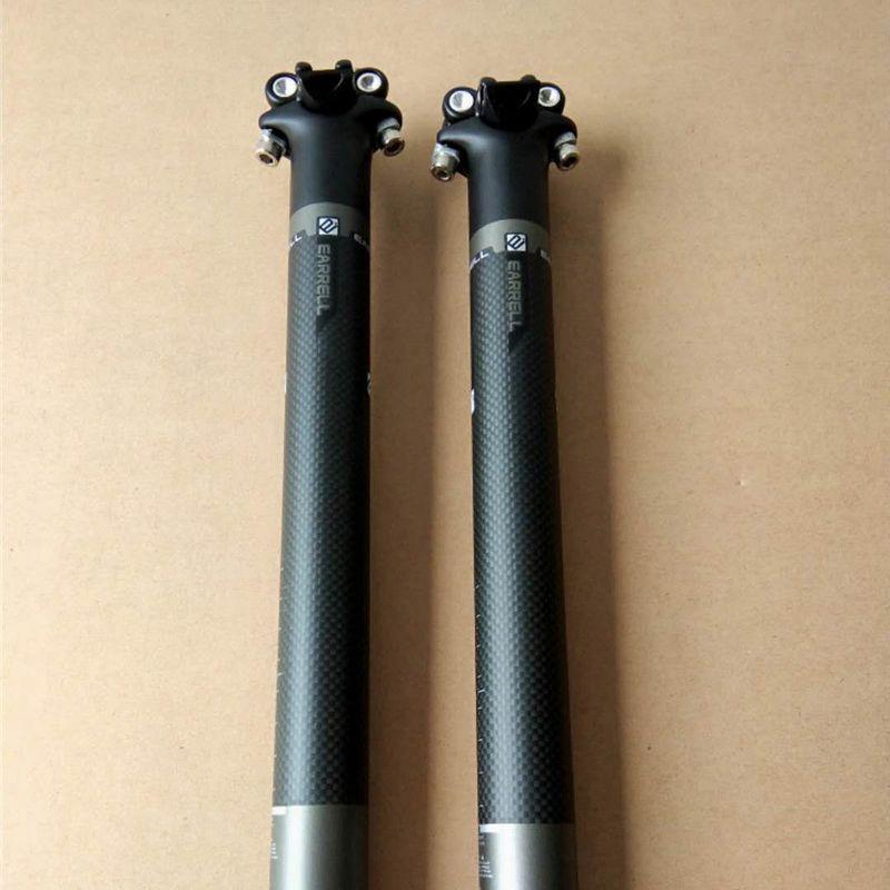 EARRELL parties de bicyclettes carbone tige de selle, length350 / 400mm, brompton mtb vélo Tige de selle Carbone 27,2 / 30,8 / 31,6