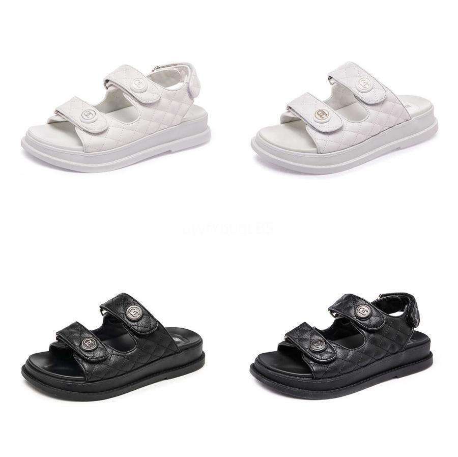 Zapatos Sgesvier plana talón Peep Toe Mujer sandalias con cordones de la flor de la hebilla del tobillo de las colmenas elegantes 2020 verano más tamaño 31-52 B225 # 427