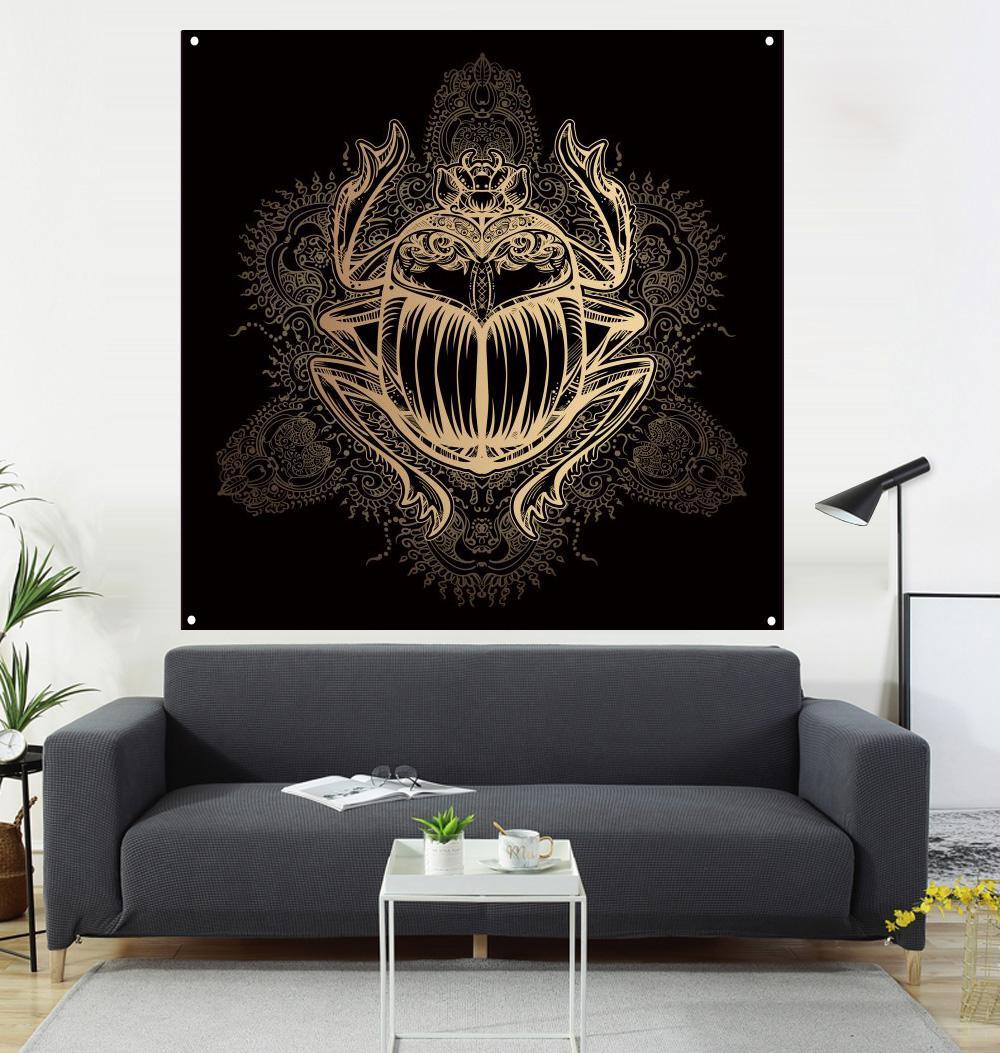 Insectes avec la peinture et le drapeau, la vie décoration de la salle, fond canapé, 600d4 boucle, 100 * 100cm