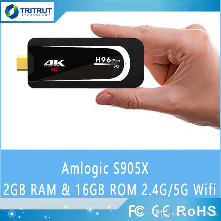 H96 Pro H3 Mini PC Amlogic S905X Quad Core Android 7.1 TV BOX 2GB 16GB 2.4G/5.G WiFi Bluetooth HDMI HEVC H.265 1080P 4K HD TV Stick Box MQ10