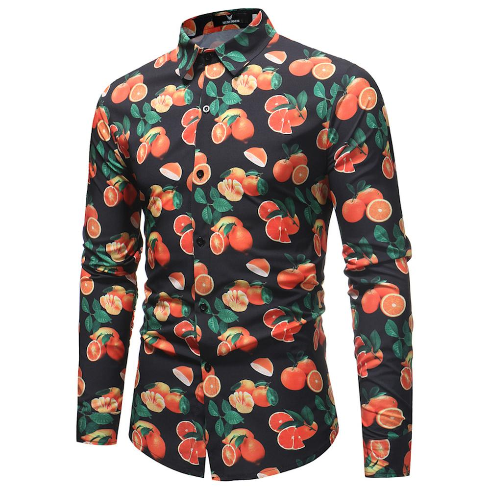 2021 Fruit Print Shirt Men 2019 Spring Autumn New Slim Fit Long Sleeve Shirt Man Party Holiday Tops Casual Dress Shirts Hot Sale From Vinceena 21 81 Dhgate Com