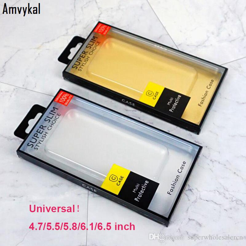 PVC Box Package For iPhone 11 pro XR XS Max 7 8 Cover Samusng S20 S10 S9 Plus Phone Cases Universal Retail Packaging