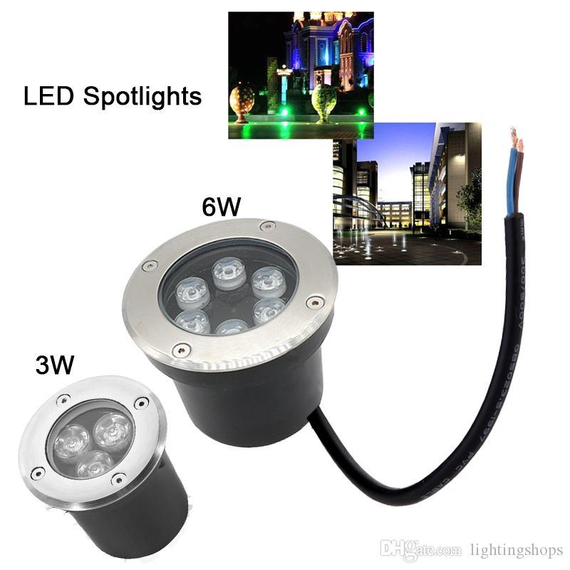 LED تحت الأرض ضوء أضواء المناظر الطبيعية 3W 6W إينجروند الإضاءة LED للماء دفن مصباح للحديقة مسار بقعة الديكور
