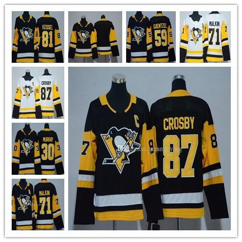 Donne 2018 Pittsburgh Penguins 87 Sidney Crosby 71 Evgeni Malkin 81 Phil Kessel 58 Leaang 30 Murray 66 Lemieux 59 Guentzel Ice Hockey Jersey