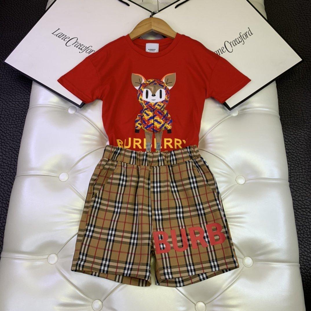 New menina menino Dois manga curta peça Suit superior do algodão T calções de alta qualidade terno moda 032815
