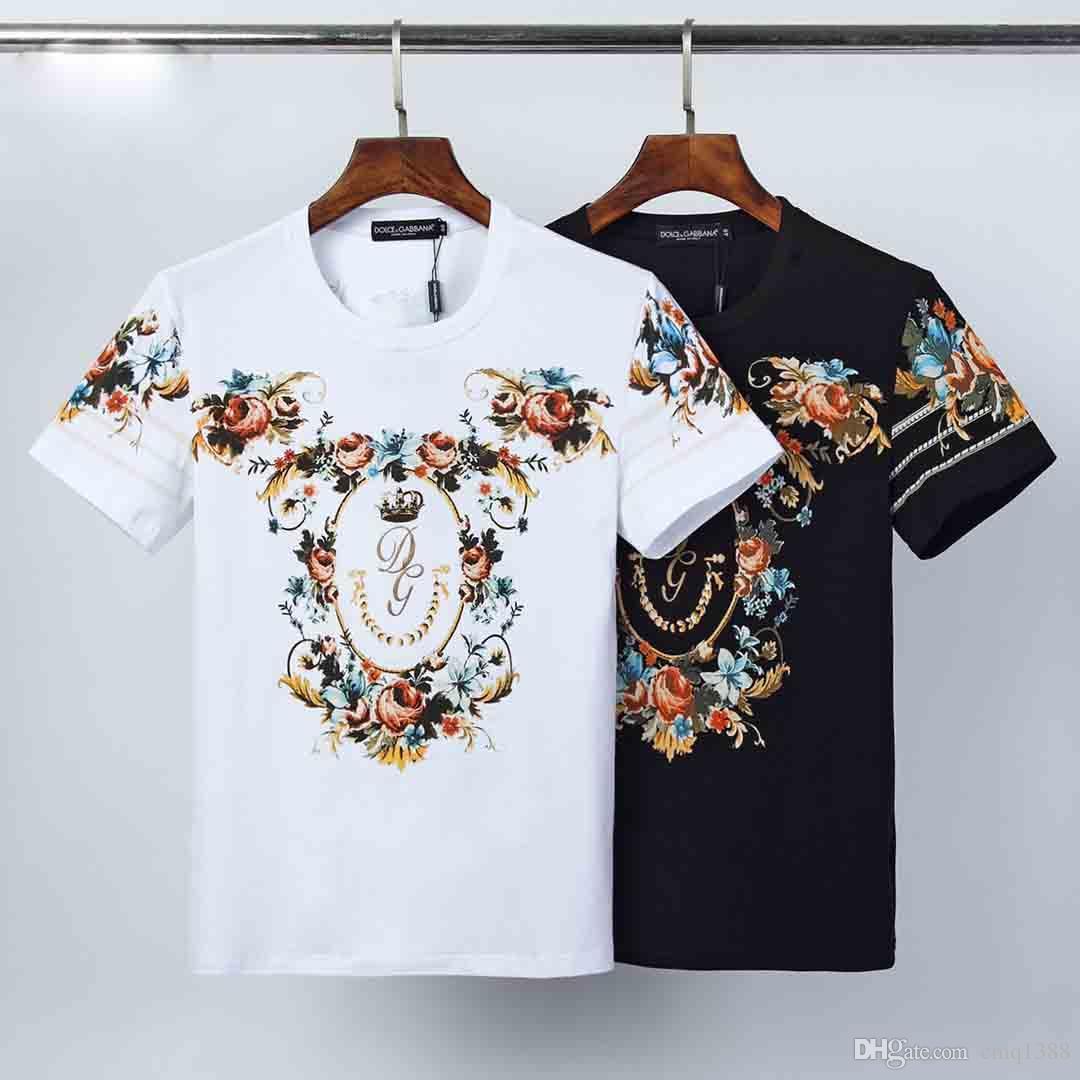 Hommes Designe T-shirts En été 2020 marque tendance des femmes des hommes Couple Lettre imprimé floral Hauts T Mode Hommes Luxe T-shirts Vente chaude