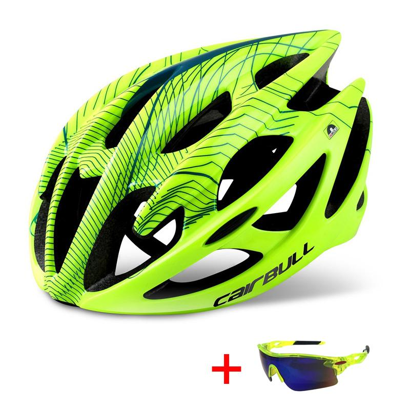 Professionelle Straßen-Gebirgsfahrradhelm mit Brille Ultra DH MTB All-Terrain Fahrradhelm Sport Reiten Radfahren
