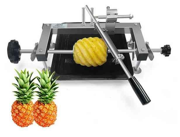 Manuel Ananas soyma makinesi paslanmaz çelik ticari ananas soyucu kesici manuel ananas göz sökücü bıçak verimlilik araçları LLFA