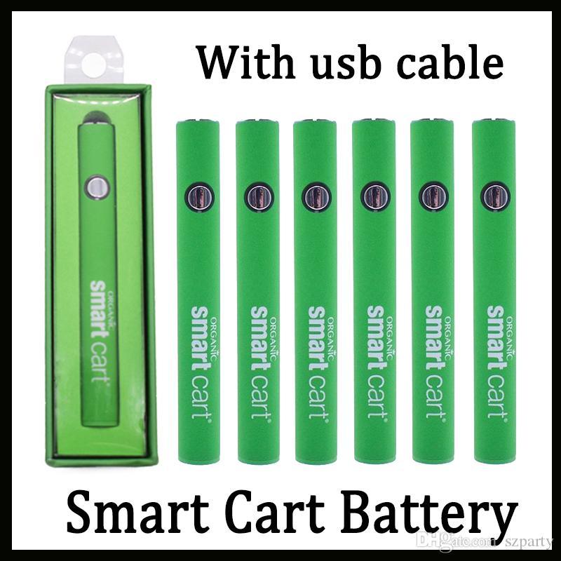 Smart Cart بطارية Vape Pen 510 خراطيش خيط 380mah متغيرة الجهد التسخين البطارية مع شاحن USB مقابل Vmod Imini Lo Key Battery