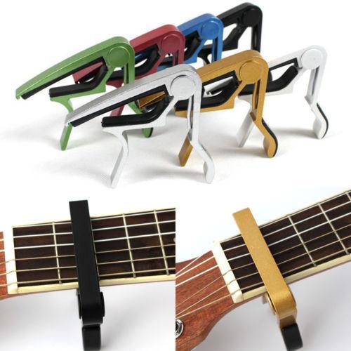 الغيتار كابو المشبك للكهرباء والصوتية القيثارة الغيتار السريع الزناد الإصدار
