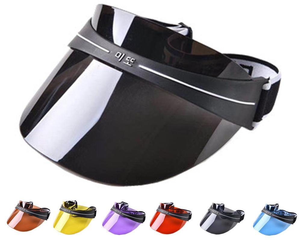 Yaz Kadın Erkek Güneş Şapka Şeffaf Üstsüz Plastik PVC Güneş Sheild Visor Şapka Temizle Bisiklet Spor Kap UV Koruma