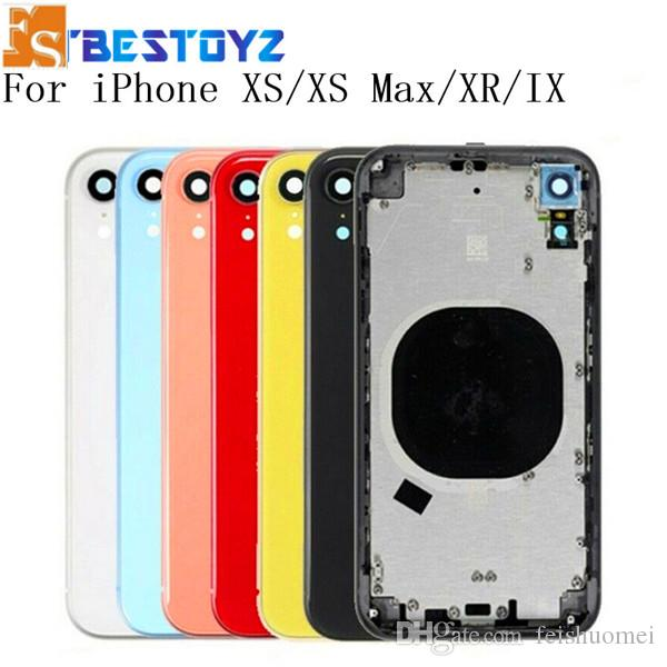 2020 New 20PCS OEM quality for iphone XR chassis Assembly housing cover door Middle Chassis Frame with SIM Card