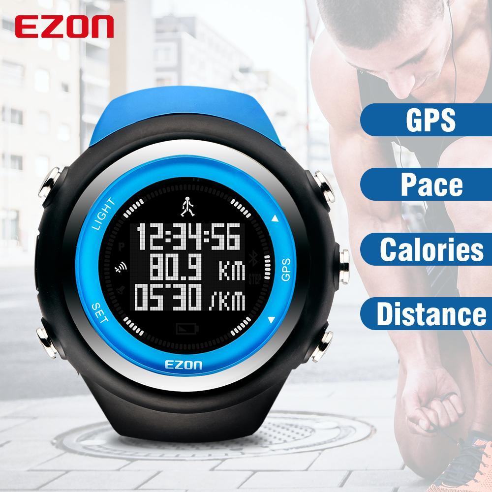톱 브랜드이지 온 T031 충전식 GPS 타이밍 시계 피트니스 스포츠 시계 칼로리를 실행 카운터 거리 페이스 50M 방수 LY191213