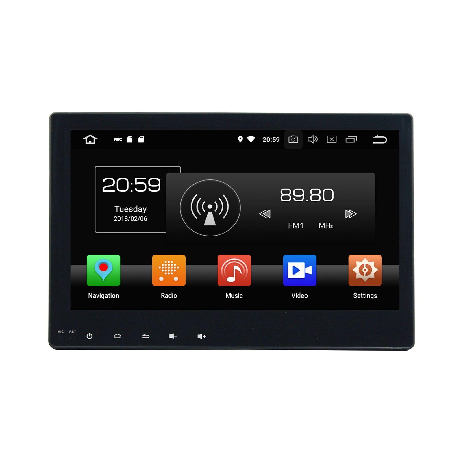 "For Toyota Hilux 2016 2017 HD 1 din 10.1"" 4GB RAM 32GB ROM Android 8.0 Octa Core Car DVD Player Radio GPS Bluetooth WIFI USB DVR Mirror-link"