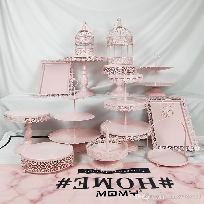 50 x 3 niveaux pliable Cupcake Dessert Présentoir Rond Table De Mariage Decor