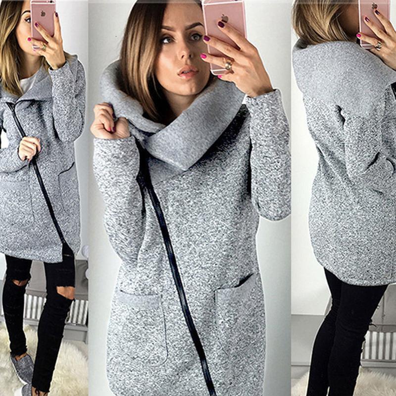 Moda sonbahar kış ceket kadınlar artı boyutu fermuar dişi kat sıcak streetwear giysiler 2019 Yeni kadın ceketler BLD1221 V191105 dış giyim