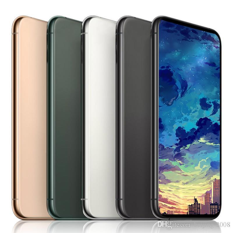 Smartphone 11 max Mit Face ID 1G RAM 16G 6.5inch ROM Quad Core 8MP Kamera 3G WCDMA entriegelte Telefone