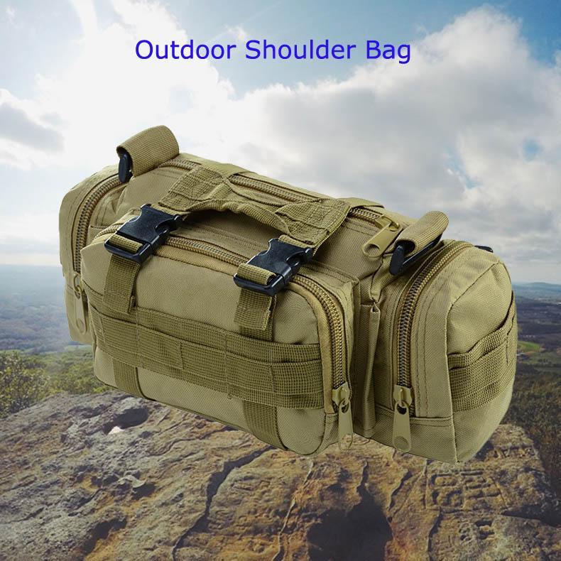 Táctica militar del bolso de hombro del mensajero de nylon deporte al aire libre pesca al Crossbody en multiples funciones Molle bolsa Bolsas Mochila