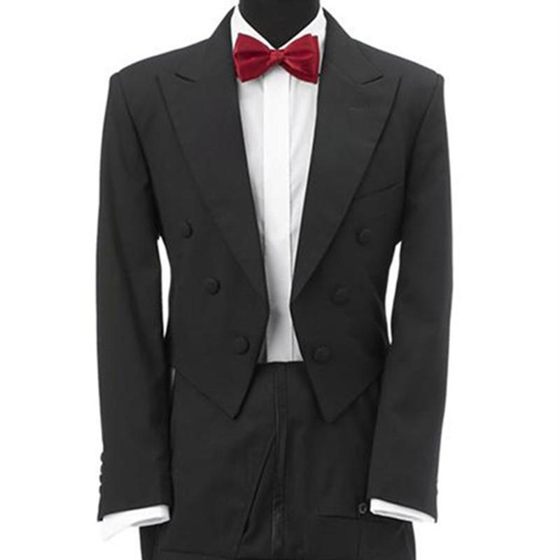 uomini smoking per abito fatto su misura abiti di nozze l'uomo per la cena 2020 lunga coda di alta qualità