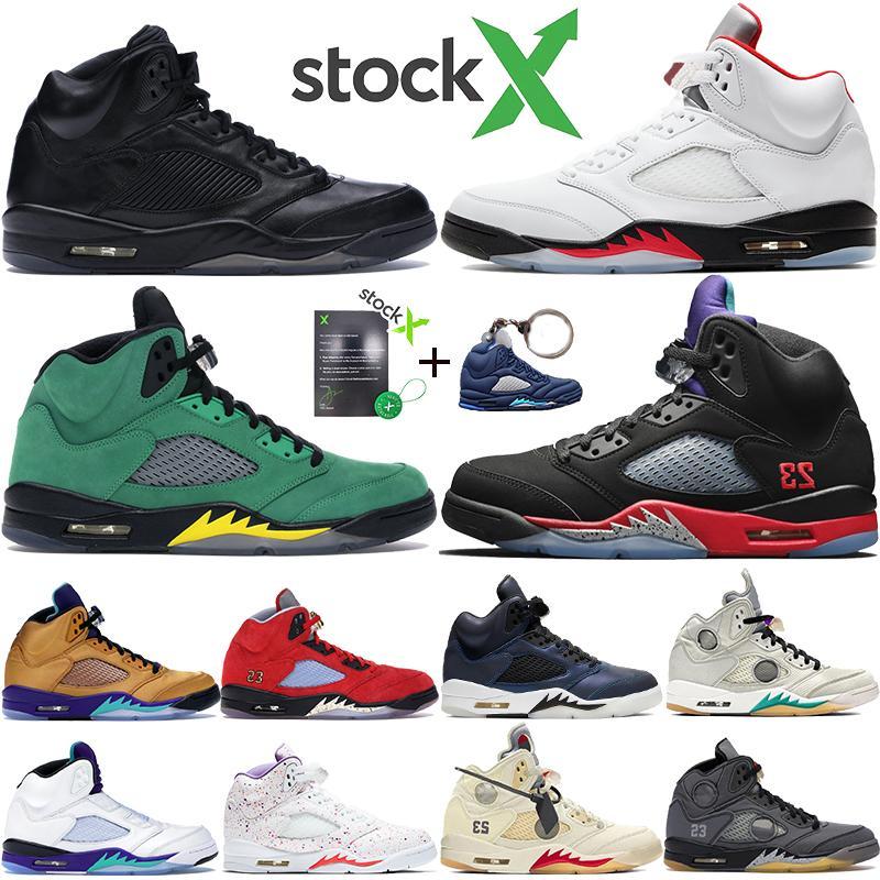NIKE Air Jordan 5 Yeni Klasik 5 5 s V OG Siyah Metalik Altın Beyaz Çimento Erkek Basketbol ayakkabı mavi Süet Olimpiyat metalik Yangın Kırmızı Spor Sneakers Ayakkabı