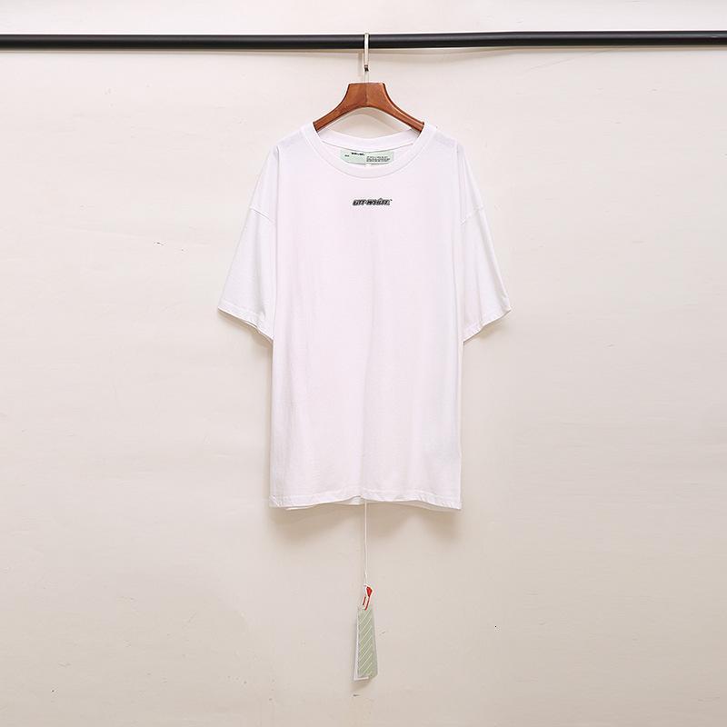 Модный бренд OFF Макао Limited OW мрамор мелки Arrow короткий рукав мужской и женской пары Т-shirtL9TCW18F