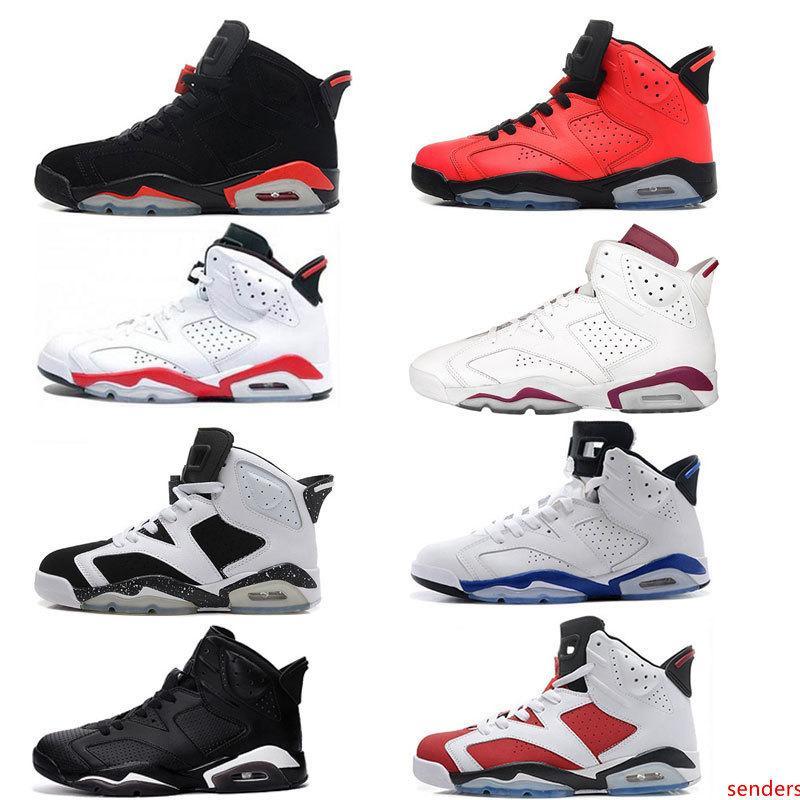 scarpe 6 blu bianco scarpe da basket nere infrarossi Oreo carminio gatto nero Alternate rosso sport scarpe da ginnastica blu marrone per gli uomini