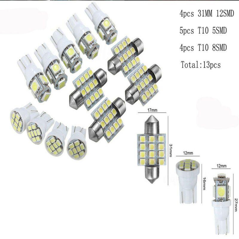 13pcs Car Bianco Luci interne Kit LED 31 millimetri del festone T10 5SMD 8SMD Kit Auto Bulb Kit Dome targa