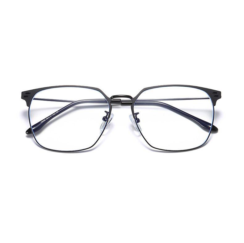 UV protection Blu-ray decorative flat mirror large frame transparent glasses sunglasses leopard white