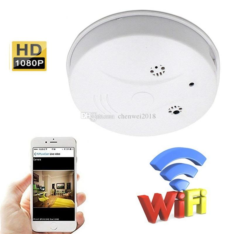 Wireless Wifi Smoke Detector IP camera HD 1920*1080P Smoke detector Video Camcorder with Motion Detection home security Surveillance Camera