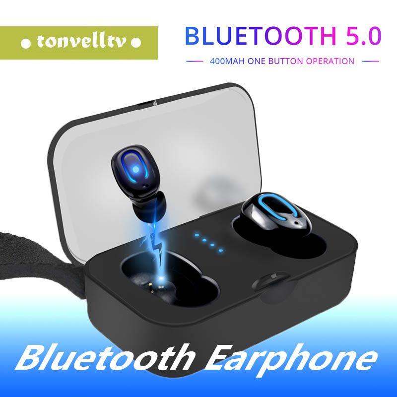 1 PCS Ti8s Bluetooth 5.0 наушники TWS Беспроводные наушники-вкладыши Handsfree Спортивные наушники с микрофоном зарядный ящик